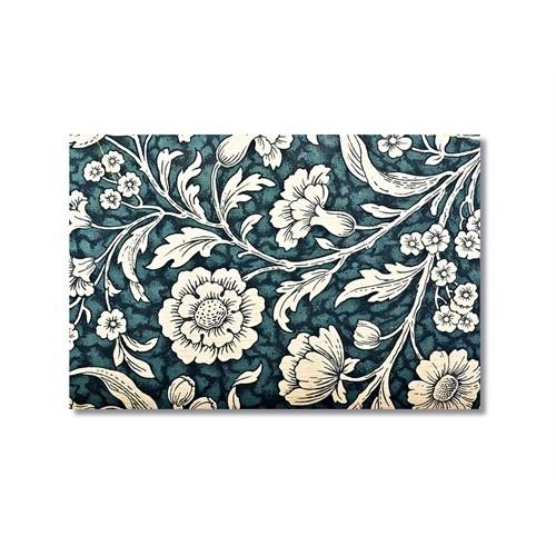 Tictac Beyaz Çiçekler Kanvas Tablo - 50X75 Cm