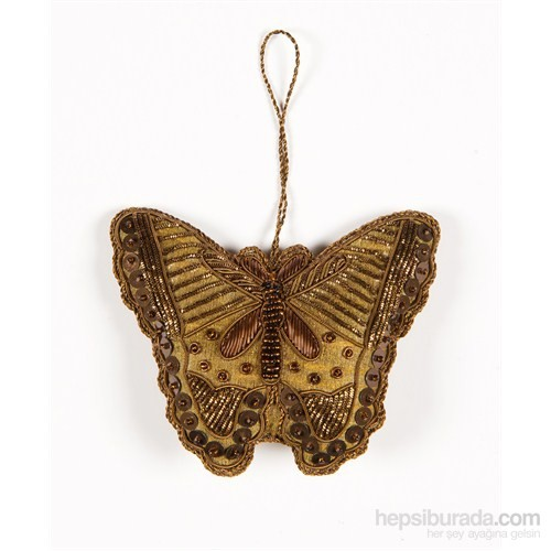 I Love Home İşlemeli Kelebek