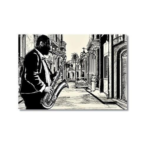 Tictac Jazz 3 Kanvas Tablo - 50X75 Cm