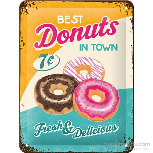 Donuts Metal Kabartmalı Duvar Panosu