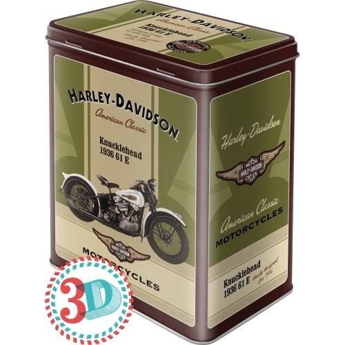 Nostalgic Art Harley Davidson Knucklehead Teneke Saklama Kutusu (Large)