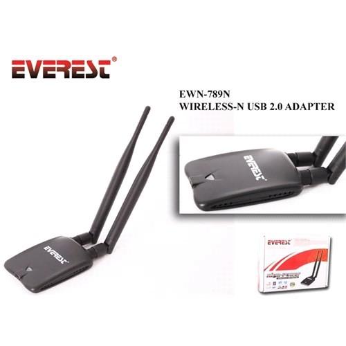 Everest Ewn-789N 150Mbps Usb Çift Anten Kablosuz Adaptör