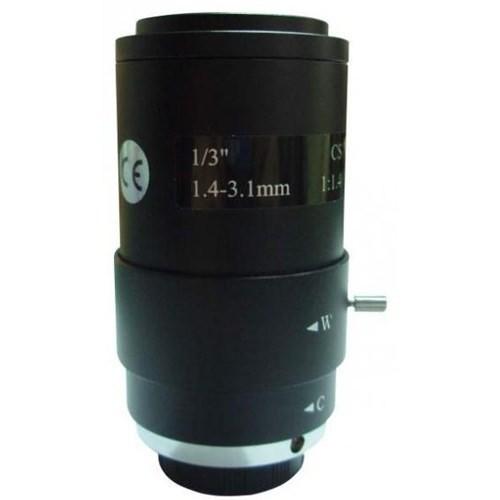 Ducki 1.4 mm-3.1 mm Arası Manuel Zoom Ekstra Geniş Açı CS Lens