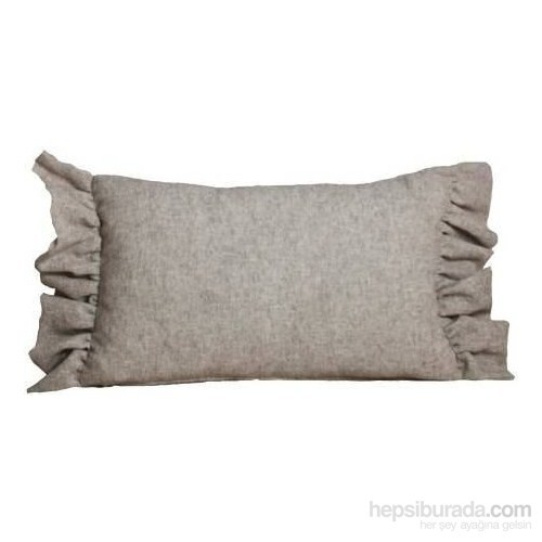 Yastıkminder Saçaklı Gri Yastık