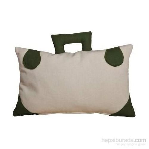 Yastıkminder Keten Çanta Ekru Dekoratif Yastık