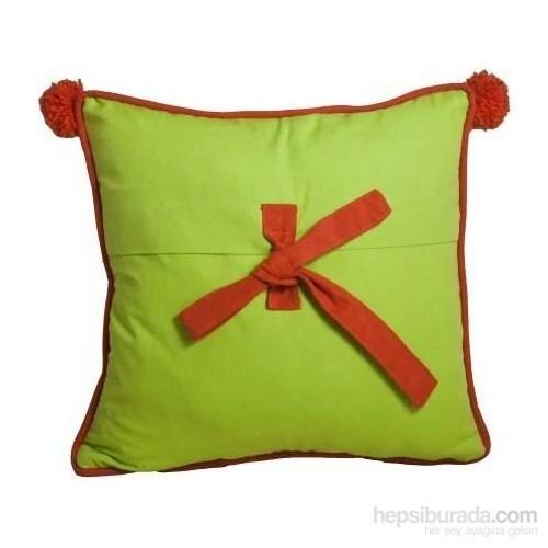 Yastıkminder Koton Fiyonk Fıstık Oranj Dekoratif Yastık