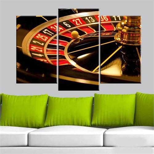 Canvastablom Ü61 Poker Rulet Parçalı Tablo