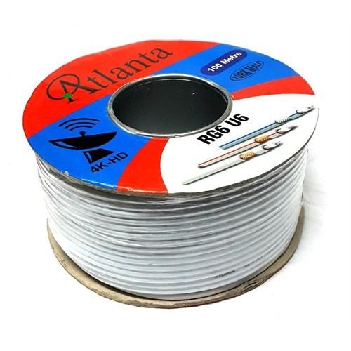 Atlanta Rg6u6 Anten Kablosu 100Metre Beyaz