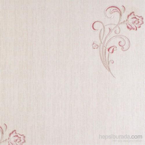 Mozaik Çiçek Bordo Vinyl Duvar