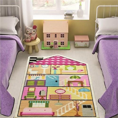 Confetti Play House 100x160 cm Pembe Oymalı Çocuk Halısı