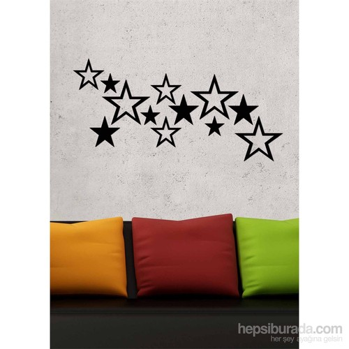 Dekoratif Akrilik Siyah Yıldız Desen