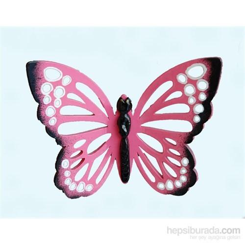 Pembe Renkli 3Lü Kelebek Nazarlık