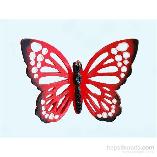 Kırmızı Renkli 3Lü Kelebek Nazarlık