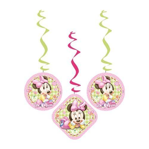 Parti Şöleni Baby Minnie Mouse İlk Yaşım Asma İp Süs