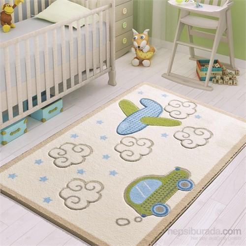 Confetti Baby Road 100x150 cm Beyaz Oymalı Çocuk Halısı