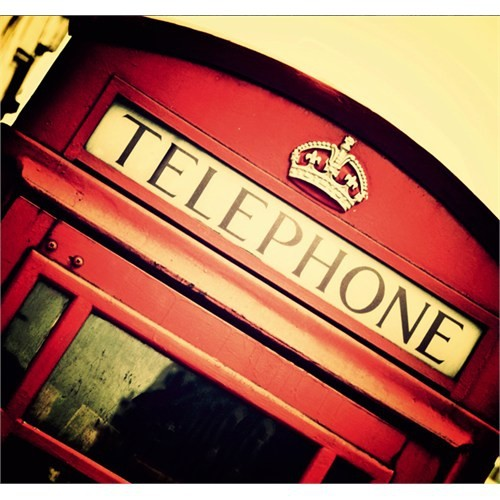 Fotocron Telephone Kırmızı Desen Tablo