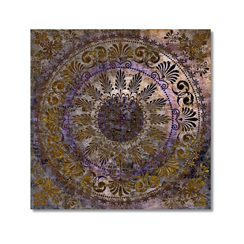 Tictac Dekoratif Kubbe Kanvas Tablo - 50X50 Cm
