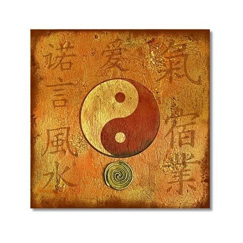 Tictac Ying Yang Kanvas Tablo - 50X50 Cm
