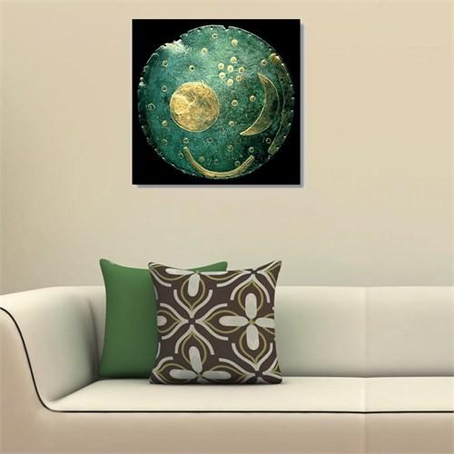 Tictac Antik Gökyüzü Haritası Kanvas Tablo - 50X50 Cm