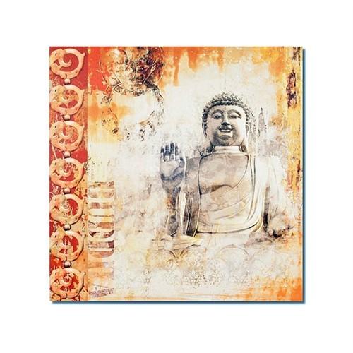 Tictac Buddha 1 Kanvas Tablo - 50X50 Cm