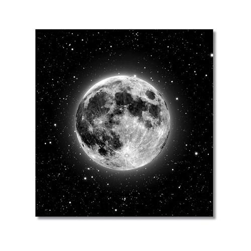 Tictac Ay Ve Yıldızlar Kanvas Tablo - 70X70 Cm