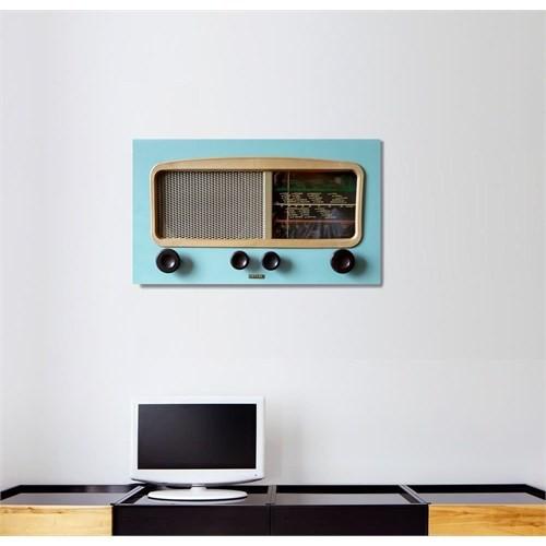 Tictac Mavi Radyo Kanvas Tablo - 40X80 Cm