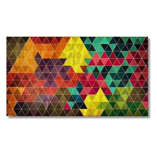 Tictac Üçgenler Kanvas Tablo - 60X120 Cm