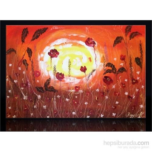 Güneş Ve Gelincikler Kanvas Tablo