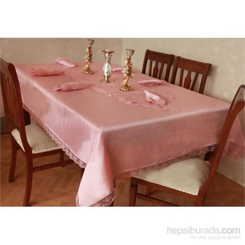 Evlen Home Collection Çıtır Masa Takımı - 18 Parça Pudra