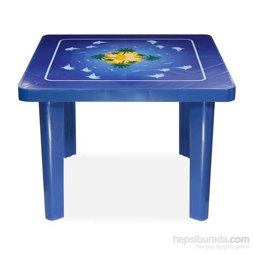 Çocuk Aktivite Ve Oyun Masası Yunus Desenli 70X70