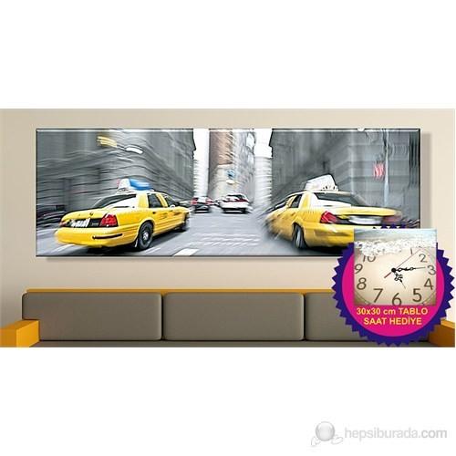 Taksi Kanvas Tablo (Saat HEDİYE)