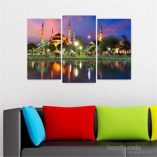 Dekoriza İstanbul Manzarası 3 Parçalı Kanvas Tablo 80X50cm