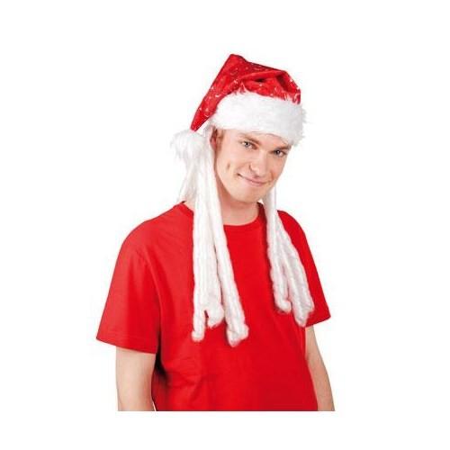 Parti Paketi Noel Baba Şapkası Saçlı