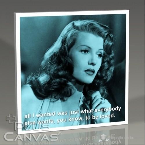 Pluscanvas - Rita Hayworth - To Be Loved Tablo