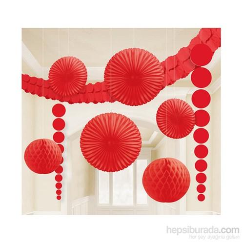 Kullan At Market Kırmızı Dekorasyon Seti