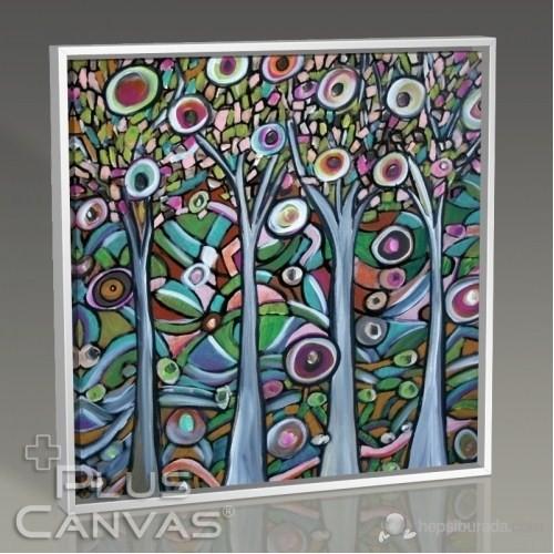 Pluscanvas - Colored Trees Tablo