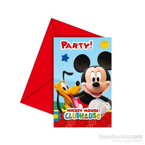 KullanAtMarket Mickey Playful Davetiye 6 Adet