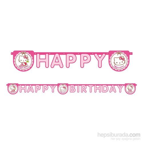 KullanAtMarket Hello Kitty Kalpler Happy Birthday Harf Afiş 1 Adet