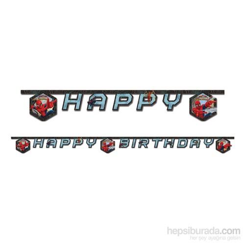 KullanAtMarket Spiderman Savaşçı Happy Birthday Harf Afiş 1 Adet