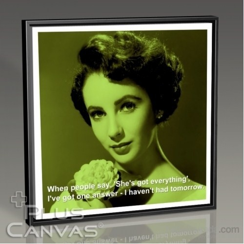 Pluscanvas - Elizabeth Taylor - Tomorrow Tablo