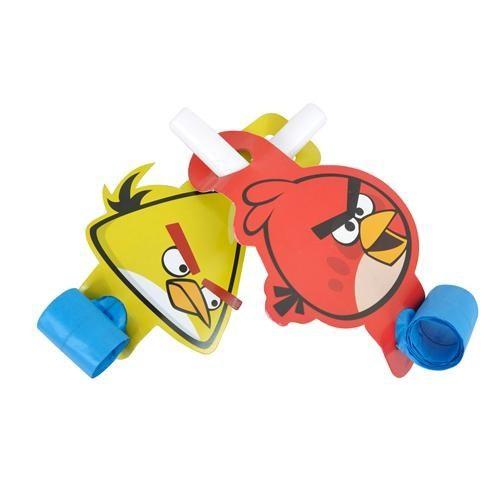 Parti Şöleni Angry Birds Düdük 6 Adet