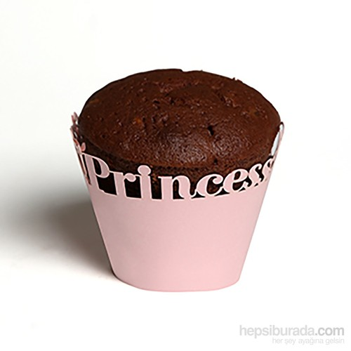 KullanAtMarket Pembe Prenses Kek Tacı 12 Adet