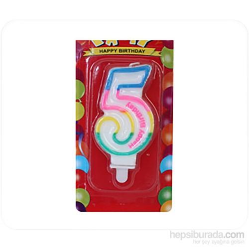 KullanAtMarket 5 Yaş Doğum Günü Mum 1 Adet