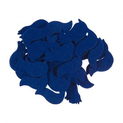 La Mia 25'Li Saks Mavi Sincap Keçe Motifler Fs302-M47