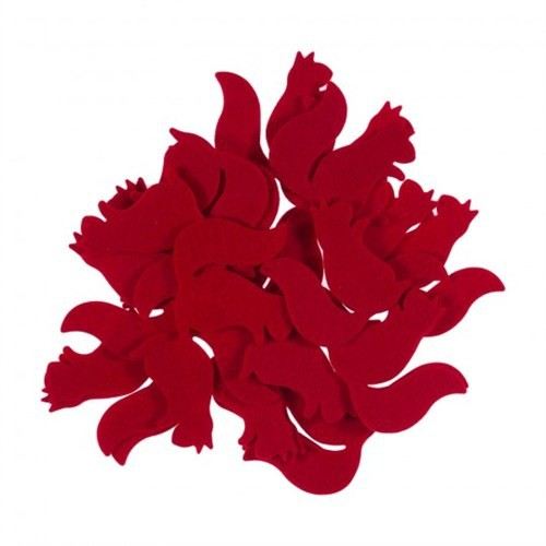 La Mia 25'Li Kırmızı Sincap Keçe Motifler Fs302-M13