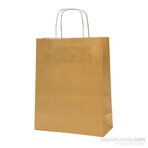 KullanAtMarket Altın Büyük Kraft Çanta