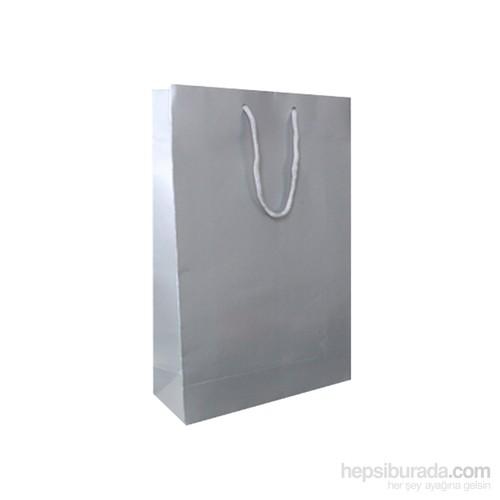 KullanAtMarket Gümüş Büyük Karton Çanta