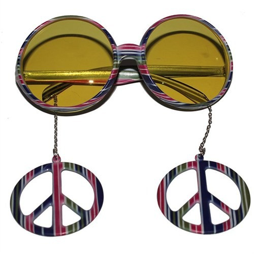 Pandoli Gökkuşağı Hippi Parti Gözlüğü