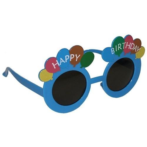 Pandoli Mavi Happy Birthday Parti Gözlüğü