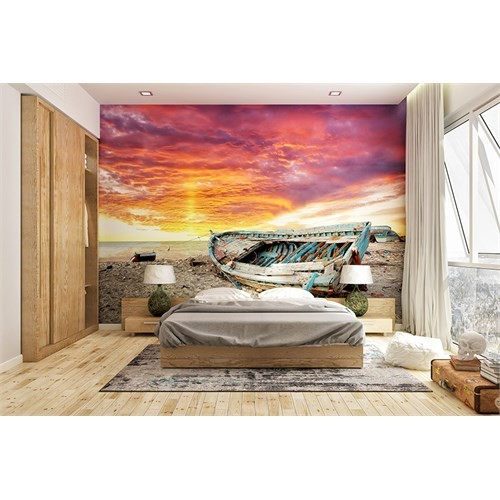 Iwall Resimli Eski Tekne Duvar Kağıdı 370X250